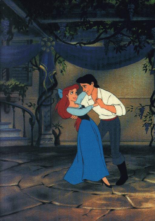 Princess Ariel and Prince Eric Cartoons Disney